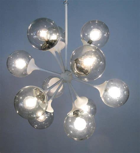 Vintage Lightolier Chandelier Vintage 1950s Glass Sputnik Chandelier By Lightolier For Sale At 1stdibs