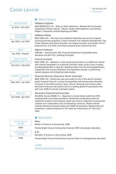 resume format for experienced software engineer software engineer resume sles visualcv resume sles