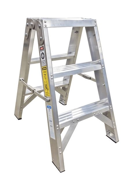 Step Stool Ladder by Sided Utility Step Stools Metallic Ladder