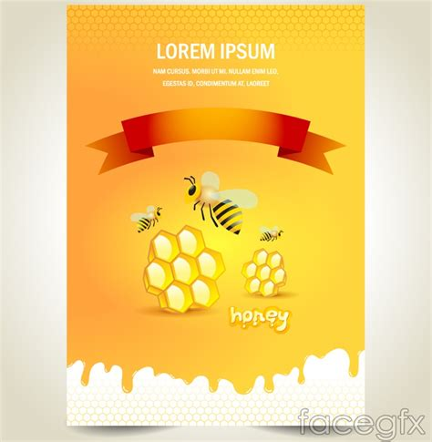 creative poster design vector creative poster design on bees and honey vector over