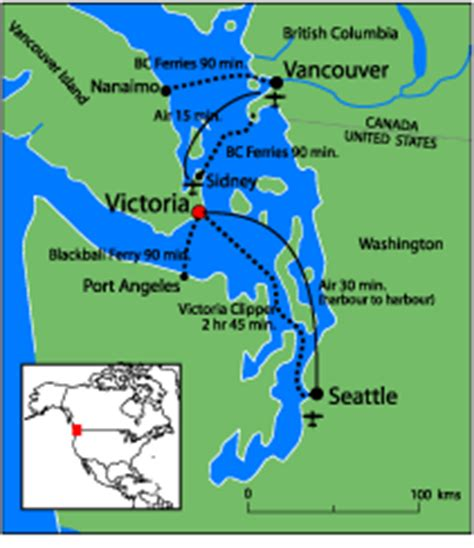 seattle map ferry directions to uvic of
