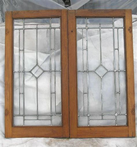 Stained Glass Cabinet Doors Vintage Leaded Glass Cabinet Doors Mf Cabinets
