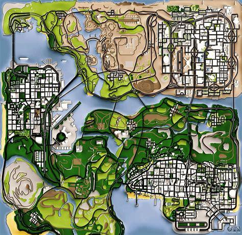 san andreas map remaster map version for gta san andreas