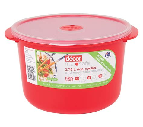 Decor Rice Cooker by Microsafe 174 Rice Cooker And Vegetable Steamer 2 75l Decor