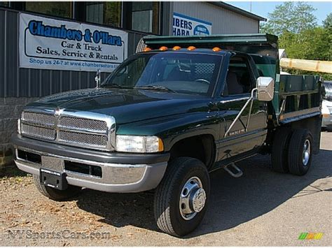 dodge ram 3500 trucks 2000 dodge ram 3500 slt regular cab dump truck in forest