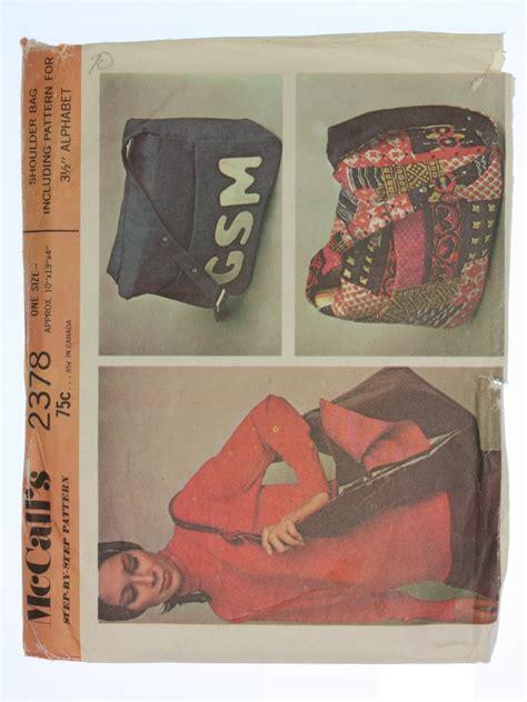 purse pattern shoulder bag pattern mccalls 2378 tote retro seventies sewing pattern 70s mccalls pattern no