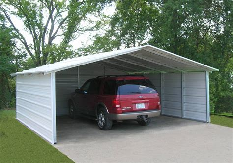 Metal Carports With Sides Carports Designed By Versatube Offer Elegance And More