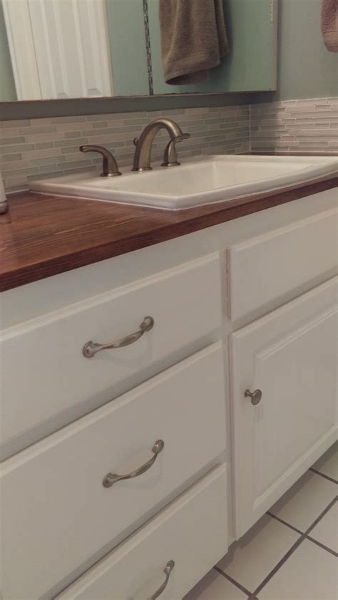 wood countertop bathroom how to make a wooden countertop for your bathroom splendry