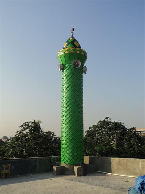 desain menara masjid pt ornamen kubah