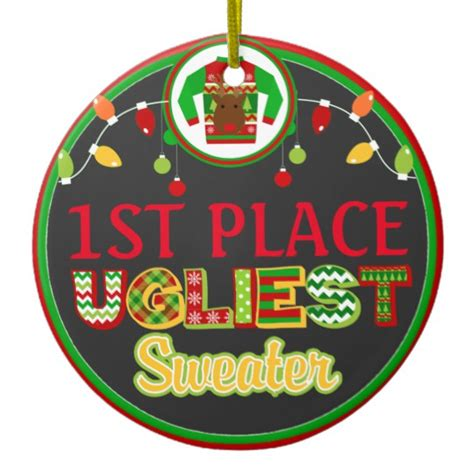 ugly sweater christmas holiday winner prize ceramic