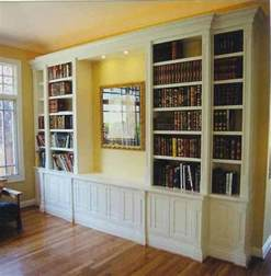 Bookcase Designs by Built In Bookcase Plans Woodworker Magazine