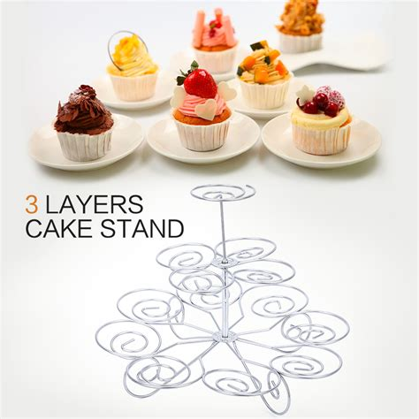 Cupcake Design Kitchen Accessories 2016 New Detachable 3 Tier 13 Cupcake Stand Decoration Dessert Holder Wedding Decorating