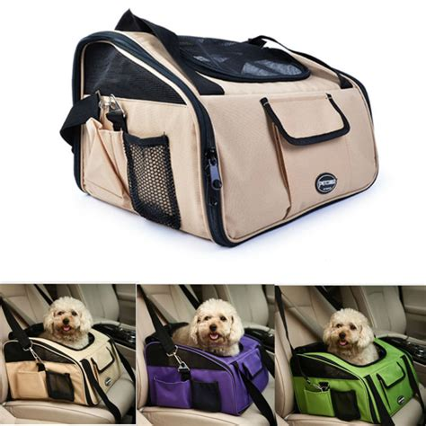 Pawise Pet Travel Booster Seat airline approved foldable pet travel carrier for dogs cats car booster seat puppy bicycle safety
