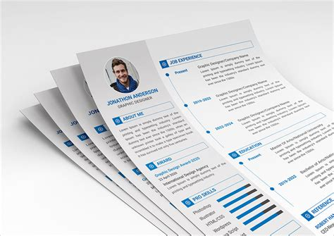 fresh resume cv design templates word