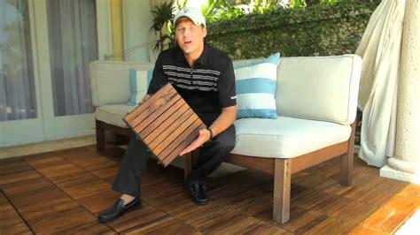 teak interlocking decking tiles snapping decktiles by