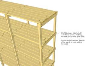5 Foot Bookshelf Storage Shelf Plans