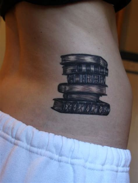 stack of books tattoo 50 attractive literary tattoos for book