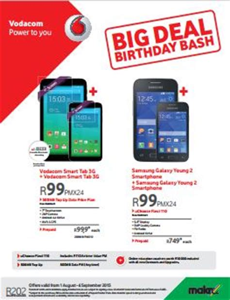 vodacom promotions the vodacom big deal birthday bash sale 01 aug 2015 06