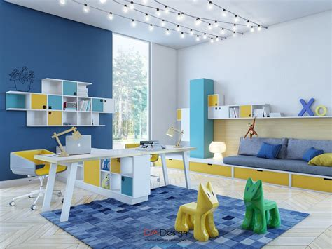 home designing com 37 joyful kids room design ideas with blue yellow tones