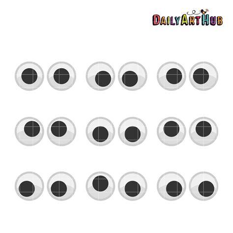 printable paper eyes googly eyes clip art set daily art hub