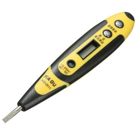 Ac Voltage Detector 12 250v ac dc digital voltage detector tester pen led