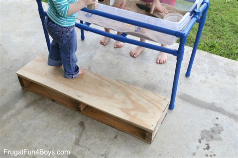 how to build a sand table how to make a pvc pipe sand and water table