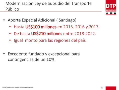 decreto ley sudsidio de transporte 2016 sibrt encuentro internacional de mejores pr 225 cticas en