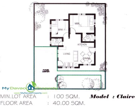 subdivision floor plan the prestige subdivision cabantian davao city claire model bungalow