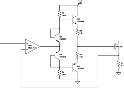 pull resistor diode op designing a linear mosfet driver stage electrical engineering stack exchange