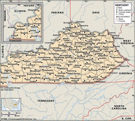 ky map kentucky maps and state information