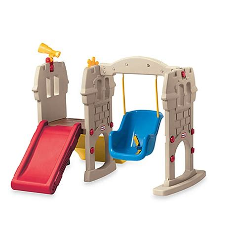 swing along little tikes 174 swing along castle bed bath beyond