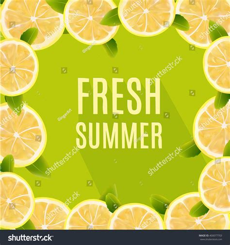 design element citrus fresh summer background citrus lemon fruits stock vector