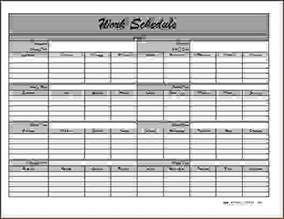Monthly Calendar Schedule Template by 6 Monthly Employee Schedule Template Procedure Template