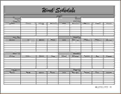 6 monthly employee schedule template procedure template