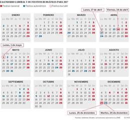 Calendario Guatemala Mundial 2018 El Calendario Burs 225 Til De Espa 241 A En 2017 Tiene Cinco