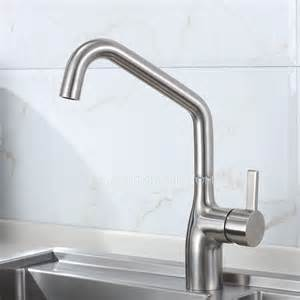 high end kitchen faucets high end rotatable stainless steel kitchen faucets brushed