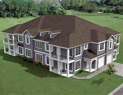 multi family home designs plan w18511wb 8 unit house plan with corner decks e