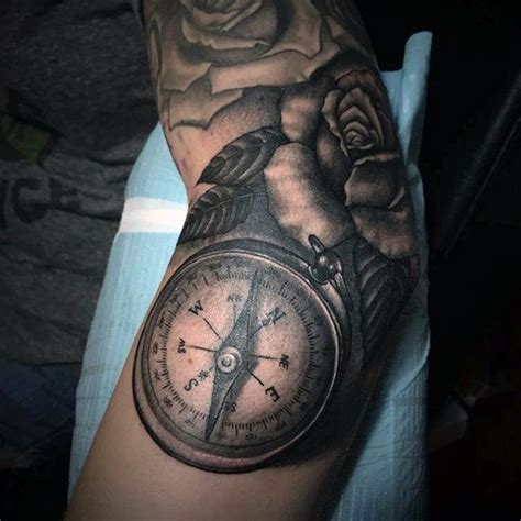 compass tattoo on elbow top 100 best elbow tattoos for men masculine design ideas