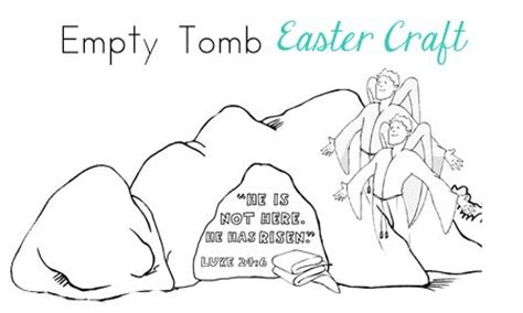 empty tomb coloring pages preschool easter activities lent and easter pinterest