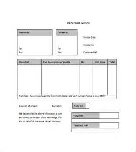 Proforma Invoice Template by Proforma Invoice Template 7 Free Sle Exle