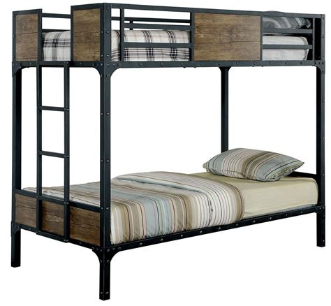 metal bunk beds twin over twin clapton twin over twin metal bunk bed cm bk029tt furniture of america