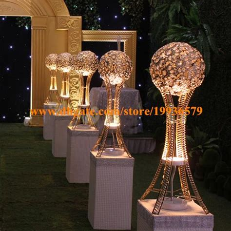 Large Glass Vases Wholesale H27in Globe Stand Of Wedding Event Table Tall Centerpieces
