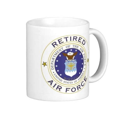 Retired Air Force Mug   Coffee Cups & More   Pinterest   Best Air force and Military veterans ideas