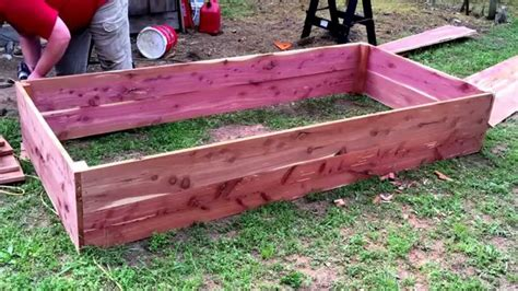 cedar raised garden beds building cedar raised garden beds 2 0 youtube