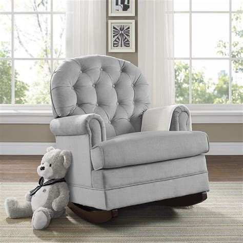 dorel rocking chair with ottoman dorel living baby relax brielle button tufted rocker gray