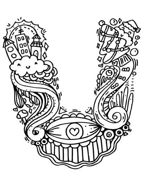 doodle huruf a z alpabet quot u 2 doodle elephant bell drawings