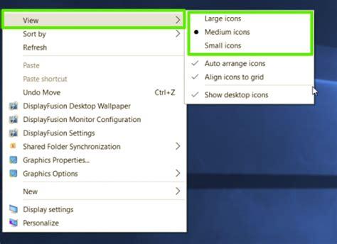 taille icone bureau comment changer la taille des ic 244 nes dans windows 10