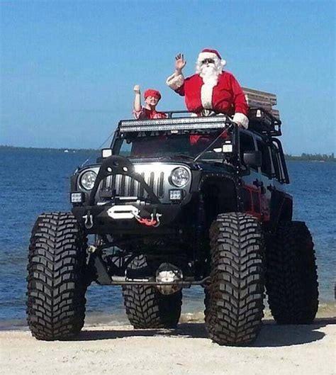 jeep christmas santa has a new sleigh wicked jeeps trucks pinterest