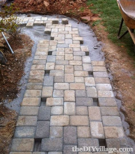 diy project install paver patio 37 best images about patio on walkways slate paving and how to build
