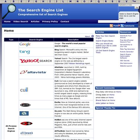 Comprehensive Search Search Engines List Driverlayer Search Engine